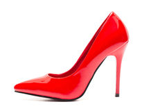 Red high heel shoe Stock Photos