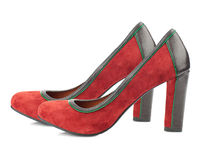 Red high heel shoes isolated on white background. Stock Photography