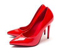 Red high heel shoes Stock Photo