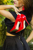 Red High heel shoes Royalty Free Stock Photos