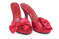 Red High Heel Slippers Stock Photo
