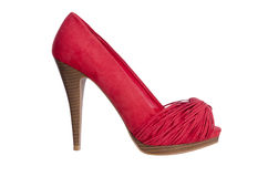 Red high heel women shoe Royalty Free Stock Images