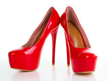 Red high heel women shoe Stock Photo