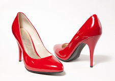 Red high heel women shoes Royalty Free Stock Photography