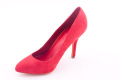 Red high heeled shoe Royalty Free Stock Images