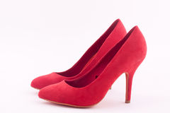 Red high heeled shoes Royalty Free Stock Photos