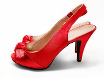 Red high-heeled shoes / stilettos / pumps Stock Image
