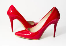 Red high-heeled Stock Photo