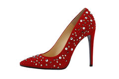 Red  high  heeled shoes Stock Photos