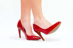 Red high heels Stock Images
