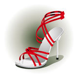 Red high heels Royalty Free Stock Photography