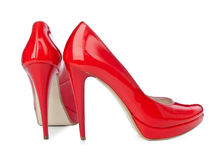 Red High Heels Stock Image