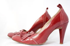 Red high heels Royalty Free Stock Image