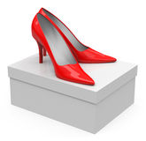 The red high heels Royalty Free Stock Photos