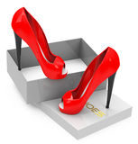 The red high heels Stock Image