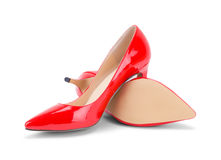 Red High Heels Off Stock Photography