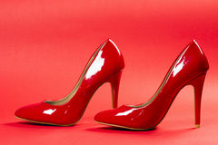 Red high heels Stock Photography
