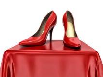 Red high heels shoe Stock Photo