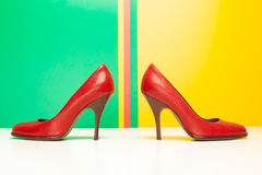 Red high heels shoes Royalty Free Stock Image