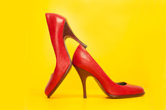 Red high heels shoes Royalty Free Stock Photos