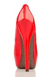 Red high heels, single shoe. Red high heels, symbol photo for fashion, elegance and eroticism Royalty Free Stock Image