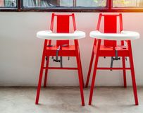 Baby highchairs royalty free stock photos