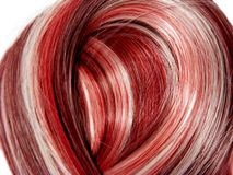 Red highlight hair texture background Royalty Free Stock Images