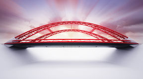 Red highway bridge from the side view Royalty Free Stock Image