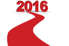 Red highway with numbers 2016 Stock Image