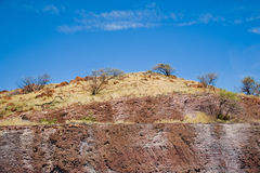 Red Hill Blue Sky Stock Photography
