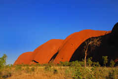 Red hills at the rock in Australia Royalty Free Stock Photos