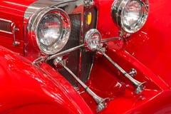 Red historic car Stock Photos
