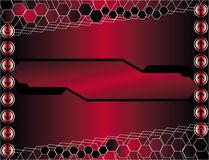 Red hitech background. 