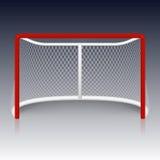Red hockey goal, net. Vector red hockey goal. Vector EPS10 illustration royalty free illustration