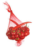 Red hoit chilly peppers in bag isolated Stock Images