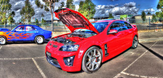 Red Holden Commodore HSV Royalty Free Stock Image