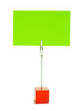 Red holder with a blank card Royalty Free Stock Images