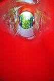 Red Hole Stock Photo