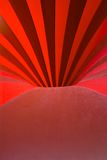 Red hole. Abstract photograph with red lines and curves, inside of a circus tent Royalty Free Stock Photo