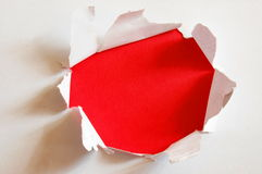 Red hole with copyspace Stock Photos