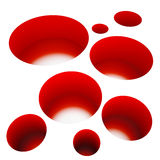 Red holes Royalty Free Stock Photos