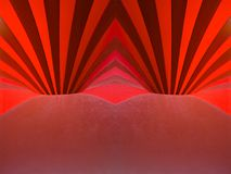 Red holes. Abstract photograph with red lines and curves, inside of a circus tent Stock Image