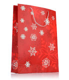 Red holiday bag on white background Stock Images
