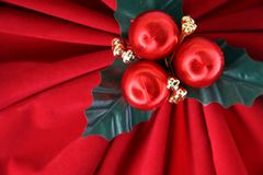 Red Holiday Bow Royalty Free Stock Photos