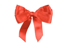 Red holiday bow Stock Images