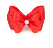 Red holiday bow Stock Photos