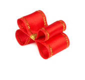 Red holiday bow Royalty Free Stock Images