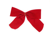 Red Holiday Bow Royalty Free Stock Image