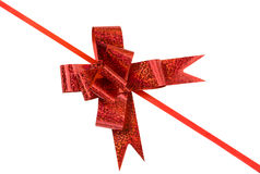 Red holiday bow Stock Photography