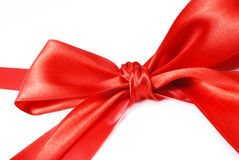 Red holiday bow Royalty Free Stock Photography